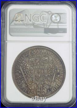 1729, Austria, Emperor Charles VI. Beautiful Silver Thaler Coin. Hall! NGC AU58