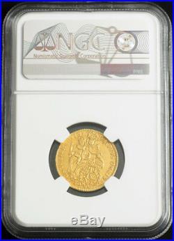 1730, Bavaria, Charles VII Albert. Beautiful Gold ½ Carolin Coin. NGC AU-53