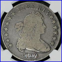 1799 Draped Bust Dollar Ngc Good 06 Beautifully Natural Light Silver Coin Grey