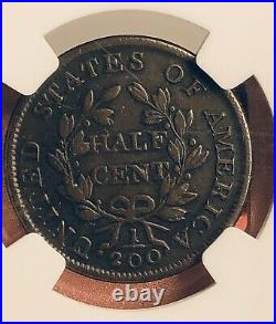 1803 Half Cent Draped Bust NGC VF30 Beautiful Coin