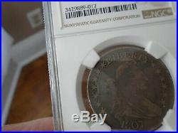 1807 Draped Bust Half Dollar NGC F12 Beautiful Bronze Toned Coin
