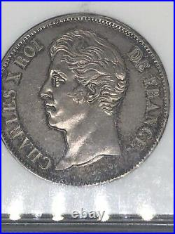 1830-a France 5f 5 Francs Silver Coin Ngc Ms 63 Rare Beautiful Toning