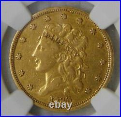 1836 CLASSIC HEAD GOLD $5 HALF EAGLE, NGC XF40, Beautiful Coin