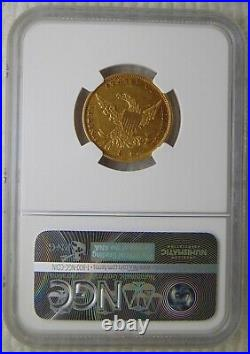 1836 Classic Head Gold Dollar $5 Half Eagle, NGC AU 53 Beautiful Coin