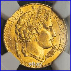 1851, France (2nd Republic). Beautiful Gold 20 Francs Coin. (6.45gm!) NGC MS-63