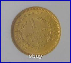 1851 Liberty Head Gold Dollar $1, NGC MS 61 Beautiful Coin