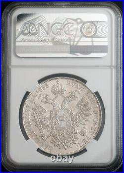 1853, Austrian Empire, Franz Josef I. Beautiful Silver Thaler Coin. NGC MS-62