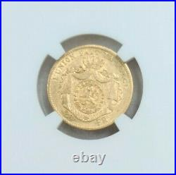 1869 Belgium Gold 20 Francs Leopold II Position A Ngc Au 55 Beautiful Coin