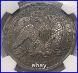 1870 SEATED LIBERTY DOLLAR NGC AU-53 Beautiful Problem Free High Graded Coin