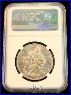 1871 Germany Silver 1 Taler Bavaria Madonna Ngc Ms 64 Scarce Bu Beautiful Coin