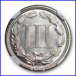 1872 Three Cent Piece NGC PF 64 Cameo CAM Proof PR Beautiful Coin