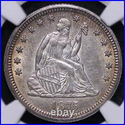 1875 Seated Liberty Quarter NGC AU55 Beautiful Coin! FREE SHIPPING WCMM