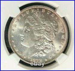 1878 7tf Rev Of 78 Morgan Silver Dollar-ngc Ms 64 Beautiful P. Q. Coinref#002
