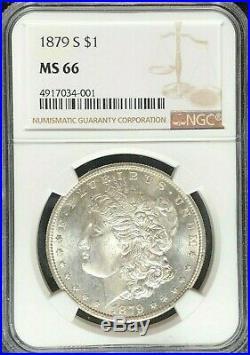 1879-s Morgan Silver Dollar Ngc Ms 66 Beautiful Coin Ref#34-001
