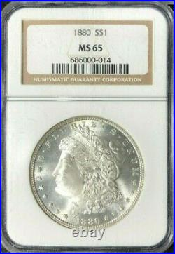 1880 Morgan Silver Dollar Ngc Ms 65 Beautiful Coinref#014