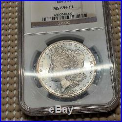 1880 S Morgan Dollar NGC MS65+ PL Prooflike Beautiful Morgan Silver Coin
