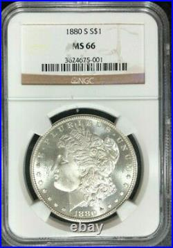 1880-s Morgan Silver Dollar Ngc Ms 66 Beautiful Coin Ref#75-001