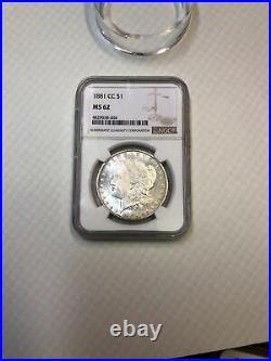 1881 CC CARSON CITY MORGAN DOLLAR NGC MS62 Beautiful Coin Silver Light Toning