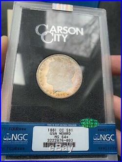 1881-CC MS64 NGC Star CAC GSA Hoard Toned Morgan Silver Dollar Beautiful Coin