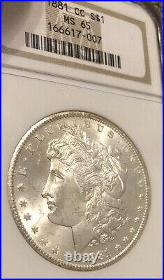 1881 CC NGC MS65 Carson City Morgan Silver Dollar Coin is a Frosty Beauty