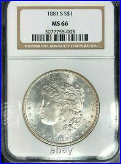 1881-s Morgan Dollar Silver Dollar Ngc Ms 66 Beautiful Coin Ref#55-003