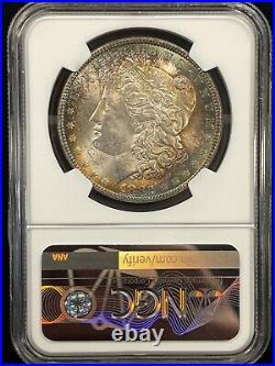 1882 Morgan Silver Dollar Ngc Ms 63 Beautiful Coin Stunning Toning