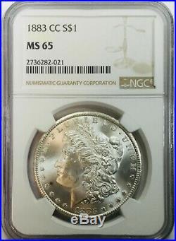 1883 CC Morgan Dollar NGC MS65 Beautiful Carson City Coin