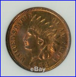 1883 Indian Cent Beautiful Coin NGC MS65RB CAC