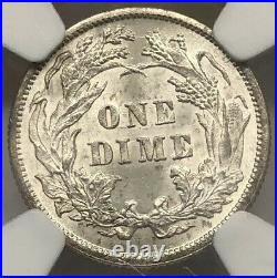 1883 Ms63 Ngc Liberty Seated Dime Beautiful Coin