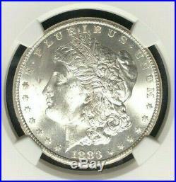 1883-cc Morgan Silver Dollar Ngc Ms 65 Beautiful Coin Ref#33-003