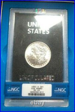 1883-o Morgan Silver Dollar Ngc Ms 63 Gsa Hoard Beautiful Coin