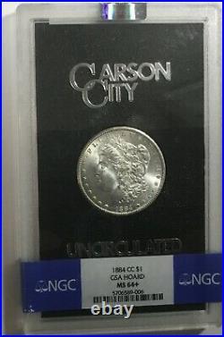 1884 CC GSA Morgan Silver Dollar NGC MS64+ Beautiful Coin