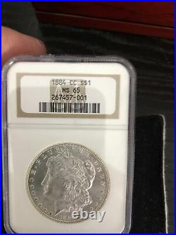 1884-CC MORGAN SILVER DOLLAR NGC MS65. Beautiful Carson City Coin