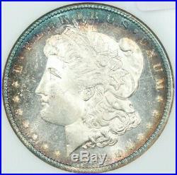 1885 1885-P Morgan Silver Dollar NGC MS66DPL DMPL Beautiful Blue toning