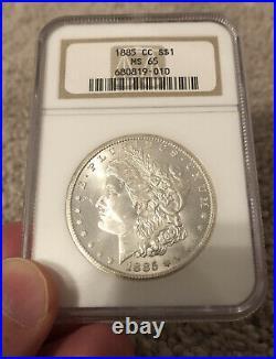 1885 CC Morgan Dollar NGC MS 65 Beautiful Gem coin