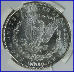 1885-CC Morgan Silver Dollar Grade MS-63 by NGC Beautiful Blast White Coin