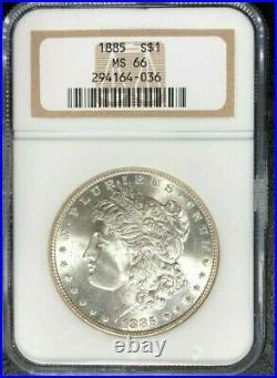 1885 Morgan Silver Dollar Ngc Ms 66 Beautiful Coin Ref#64-036