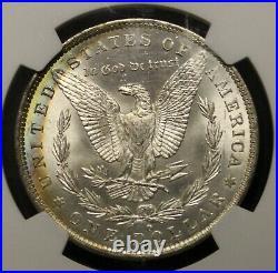 1885 O Morgan Silver Dollar MS63 NGC Graded Beautiful Color Toning Toned Coin