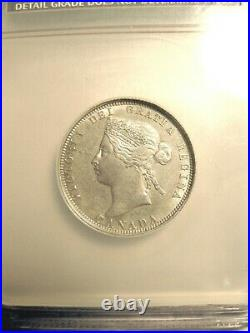 1885 Rare, Hard To Find Beautiful Condition Canadian 25 Cent Coin NCS Graded