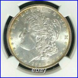 1886 Morgan Silver Dollar Ngc Ms 65+ Beautiful Coin Ref#92-001