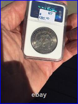 1887 Morgan Silver Dollar NGC MS 64 Rainbow Color Toned Beautiful Estate Coin