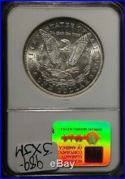 1891-cc Morgan Silver Dollar Ngc Ms 64 Beautiful Coinspitting Eagle Ref#013