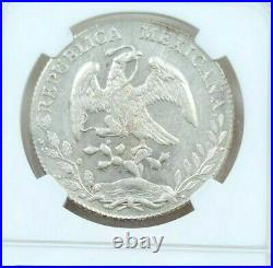 1895 Mo AM MEXICO SILVER 8 REALES NGC MS 61 BEAUTIFUL FROSTY COIN MEXICO CITY