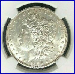 1896-o Morgan Silver Dollar Ngc Au 58 Beautiful Coin Ref#25-001