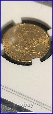 1897 $5 Gold Dollar Liberty Head Half Eagle Nice Coin Beautiful Grade Rare Date