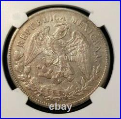 1899 Cn Jq Mexico Un Peso Libertad Cap & Rays Ngc Au 55 Beautiful Sharp Coin