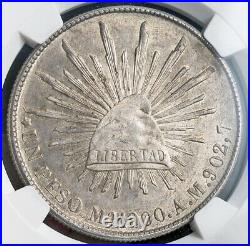 1900, Mexico (2nd Republic). Beautiful Large Silver Eagle Peso Coin. NGC MS63
