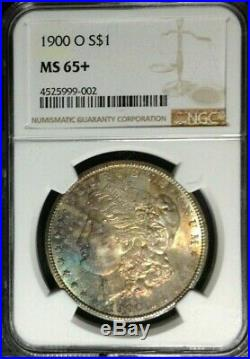 1900-o Morgan Silver Dollar Ngc Ms 65+ Wow Beautiful Toned Coin Ref#002
