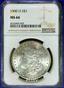 1900-o Morgan Silver Dollar Ngc Ms 66 Beautiful Coin Ref#45-003
