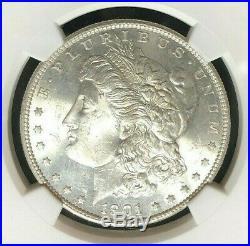 1901-s Morgan Silver Dollar Ngc Ms 63 Beautiful Coin Ref39-005